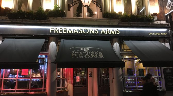 SUNDAY 16th: CLUB XMAS LUNCH: FREEMASONS ARMS, COVENT GARDEN
