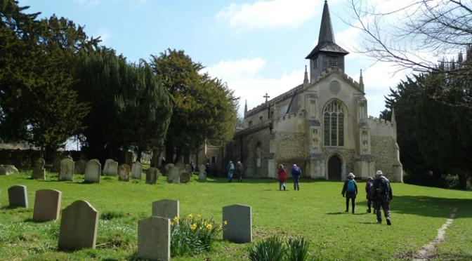 Danny's Easter Sunday walk, Newport Essex.