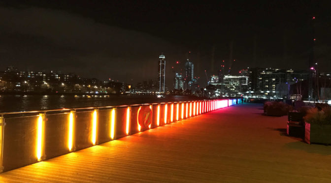 Tuesday 4th  February Evening walk :Battersea Power Station's First Light Festival